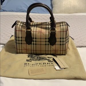 Burberry haymarket Chester Large bowling bag